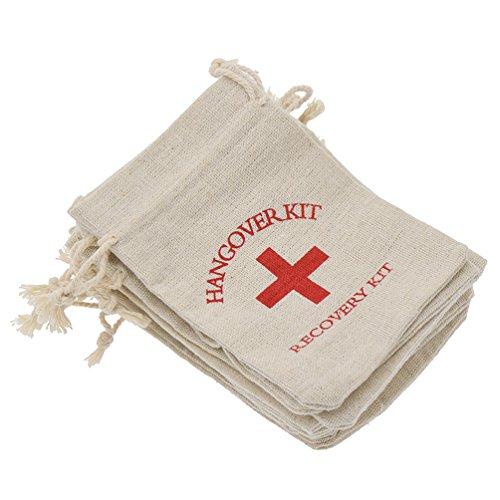 YNuth 10pcs Hangover Kit Sacs En Coton Sac De Rangement Gueule De Bois De Souvenir