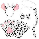 dressforfun 302052 - Kostüm Set Kuh für Erwachsene, Haarreif mit Ohren und Hörnern, Handschuhe,...