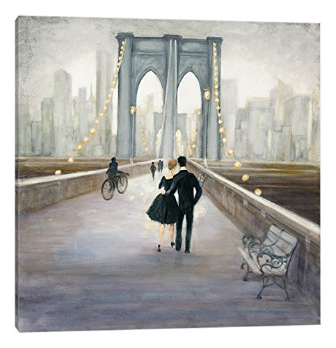 "iCanvasART Bridge to New York Canvas Print by Julia Purinton, 37"" x 37"""