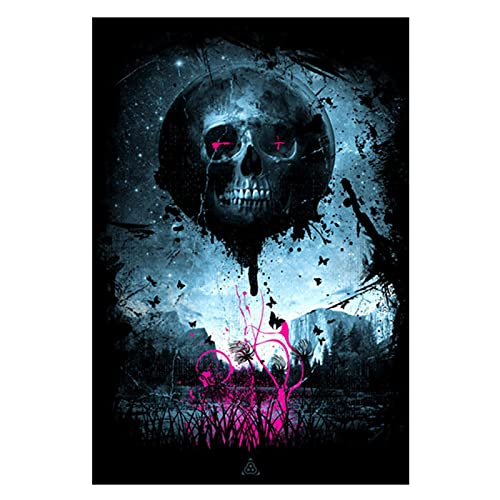 Pknbfw Abyss Skull Street Canvas Painting Art Posters and Prints Diablo Graffiti Pinturas en la pared Imágenes Decoración para el hogar-50x70cm Sin marco