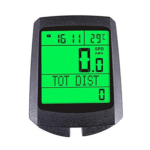 MOSINITTY Multifunción Ordenador de Bicicleta Luminosa Retroiluminación Bicicleta Cuentakilómetros Impermeable Pantalla LCD...