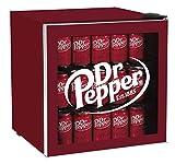 CURTIS MIS169DRP DR. Pepper 50 Can Beverage Cooler, Glass Door, 1.8 cu ft, Maroon