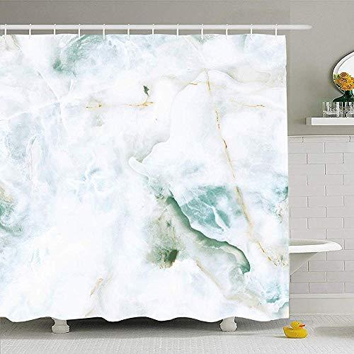 Hotyle Duschvorhang Set mit Haken 120X180Cm Granit Schöner Boden Braun Weiß Natur Schwarz Marmor Wand Grau Natur Texturen Marmorierte Textur