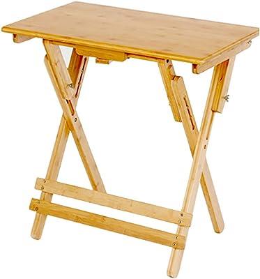 WENJUN ラップトップデスク調節可能なラップトップデスクテーブル100%の竹折りたたみ式の朝食サービングベッドトレイは、デスクを持ち上げることができます折りたたみテーブルを学ぶ (色 : Straight edge, サイズ さいず : 50 * 80cm)