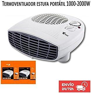 Calefactor Termoventilador Estufa portatil 1000-2000W Termostato. Protección contra sobrecalentamiento. Función de aire frío