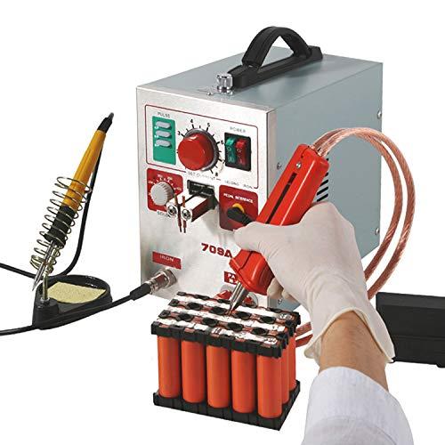 Hanchen Punktschweißgerät 3.2kw Akku Schweißgerät LED Pulse Spot Welder mit Lötkolben 2 in1 für 18650 16430 22650 32650 Batterie 220V