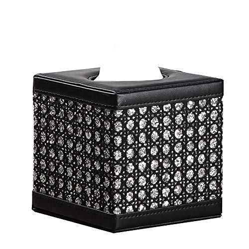 ペーパータオル ホルダー レザー おしゃれ ティッシュケース 正方形 高級 ティッシュボックス 合皮製 豪華 北欧 車 テッシュペーパーボックス