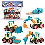 primrosely Take Apart Toy Kit de construcción de juguete – Conjunto de construcción de excavadora de juguete ideal para niños pequeños