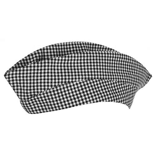 Hutshopping Pepita Schiffchen Kochmütze (One Size - schwarz)