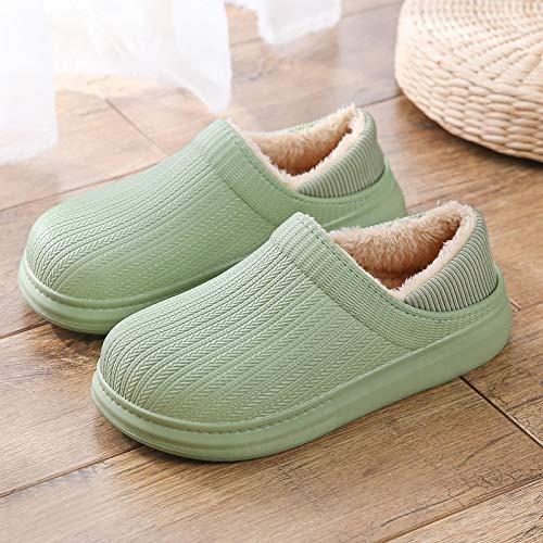 Zapatillas De Algodón, Zapatillas Planas para Mujer, Cubierta De Invierno, Zapatos De Tacón para Amantes, Zapatos Casuales Cálidos De Interior para Mujer, Tobog