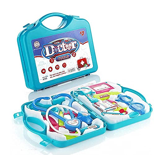 FREYA ENTERPRISE® Doctor Play Set with Foldable Suitcase, Doctor Set Toy Game Kit, Compact Medical Accessories Toy Set Pretend Play Sets,Docter Kit Toy for Kids,Boys,Girls,Childrens(Doctor Set)