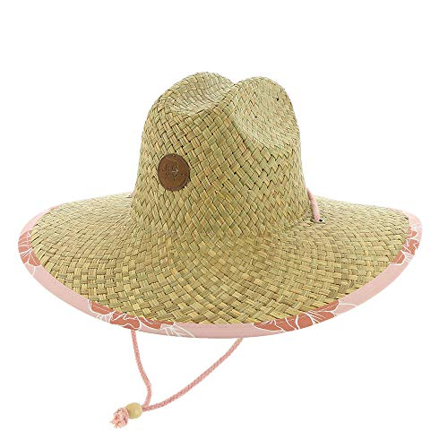 Roxy Damen Pina to My Colada Straw Sun Hat Sunhat, Silberfarbenes rosa Philly Muster, S/M