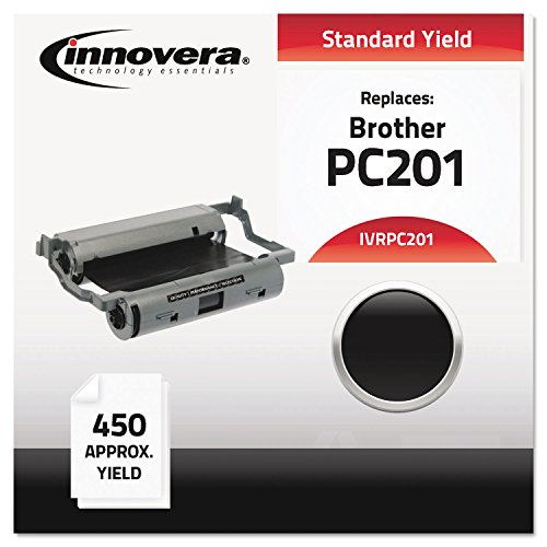 Compatible with Brother PC-201 PC201 Thermal Transfer Fax Print Cartridge, 450 Pages, Black