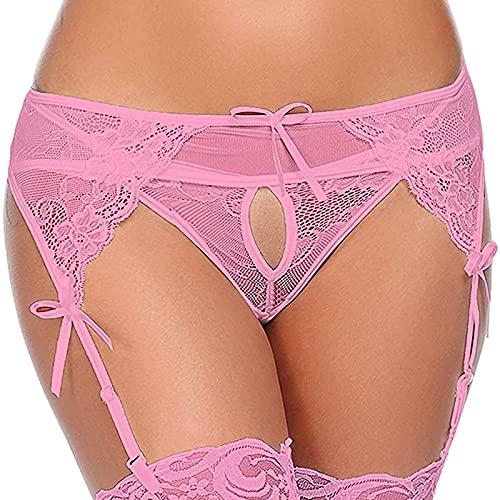 WORMENG Damen Hosenträger Negligee Sexy Pyjamas Spitze Versuchung Sexy Unterwäsche Oberschenkel Strumpfhalter Dessous