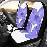 Web--ster-Cars seat covers Fundas de Asiento de Coche Violet Flower Purple...