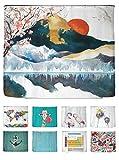 arteneur® - Japan - Anti-Schimmel Duschvorhang 240x200 - Beschwerter Saum, Blickdicht, Wasserdicht, Waschbar, 16 Ringe und E-Book mit Reinigungs-Tipps
