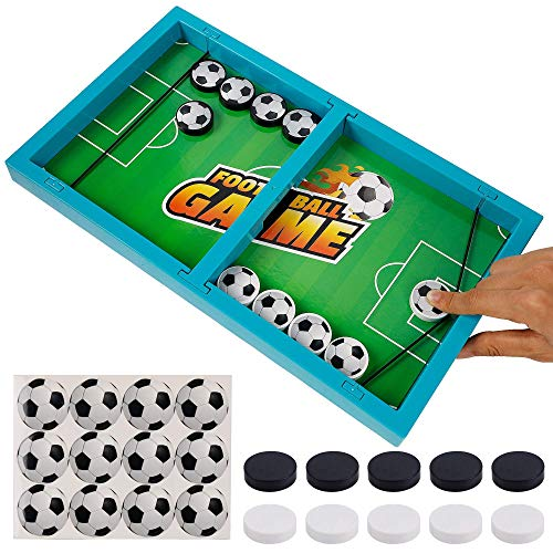 DRDUDU Fast Sling Puck GamePlastic Soccer Football Table Hockey Game Slingshot Toy Winner Board Game ParentChild Interactive Game 14 in x 82 in Table Battle Board Toy for Kids