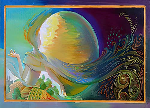DIY 5D Diamond Painting for Adults Celtic Moon Oil Painting Wood Full Drill Round Diamond Home Wall Decor 12'x16'