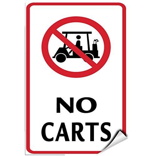 Geen karren met grafische activiteit Golf Golf Winkelwagen Vinyl Stickers Teken Zelfklevende Labels Sticker Sticker Tekenen Grappige 8x12 In