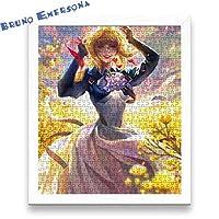 BE Violet Evergarden ヴァイオレット・エヴァーガーデン パズル 木製 300/500/1000/1500のパズルのピース ジグソーパズル レジャー エンターテイメント フォトフレーム付属 初心者向け 子供プレゼント カスタム可能【500pcs】【ホワイトのフォトフレーム】