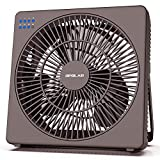 OPOLAR 8 Inch Desk Fan(Included Adapter), USB Operated, 4 Speeds+Natural Wind, Timer, Quiet Operation, Adjustable Angle, Desktop Personal Cooling Fan for Office, Living Room, Bedroom
