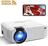 Beamer Wifi, Crosstour Mini LED Screen Mirror Full HD Wireless Projektor Unterstützung Tragbares Heimkino kompatibel mit Handy / TV-Box / HDMI / USB / VGA