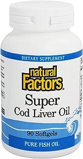 Natural Factors Super Cod Liver Oil - 90 Softgels