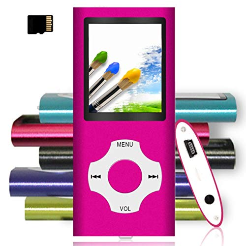 Tomameri - Portable MP3 / MP4 Player with Rhombic Button, and Support Up to 64GB, Compact Music, Video Player, Photo Viewer Supported (Lover Fan)