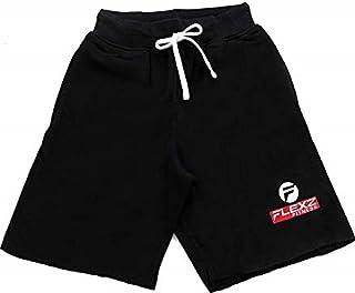 Men's Fleece Jogging and Bodybuilding Gym Workout Sweat Shorts Black