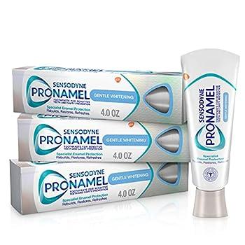 Sensodyne Pronamel Gentle Teeth Whitening Enamel Toothpaste for Sensitive Teeth to Reharden and Strengthen Enamel Alpine Breeze - 4 Ounces  Pack of 3
