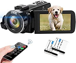 Video Camera 2.7K Camcorder 42MP 18X Digital Camera Video Camera for YouTube 3.0inch Flip Screen Camcorder Vlogging Camera with Remote Control and Two Batteries