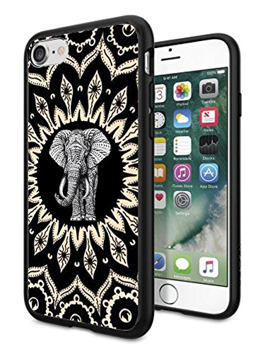 Matcase for iPhone 6 Case iPhone 6S Case - Mandala Elephant Hard Clear Transparent Anti Scratch Resistance with Full Protection TPU Bumper Designer Case