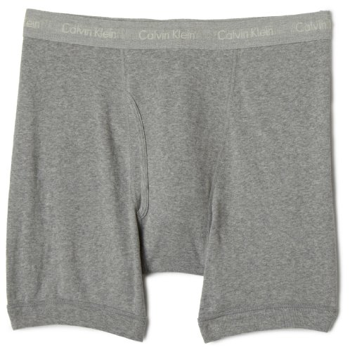 Calvin Klein Big and Tall Men's Big Boxer Brief, Grey Heather, 5X