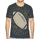 Short Sleeve Solid Crew Neck T-Shirt Football Rugby Ball Vintage Label Hand Drawn Sketch Grunge Textured Retro Badge Typography Design Print illust