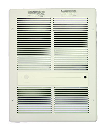TPI Corporation HF3316TRPW Fan Forced Wall, 240/208 Volts, 4000/3000 Watts, All Metal Construction, Built-in Thermostat, White