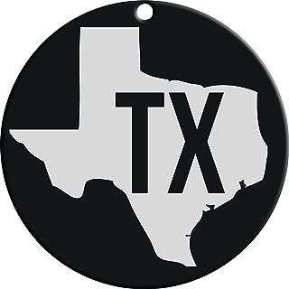 Carson Black Texas State Monogram 4.5 inch Steel Windchime Sail