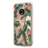 Compatible with Motorola Moto G5 Plus Case Clear Flower