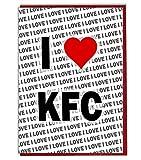 I Love KFC Grußkarte – Geburtstagskarte – Damen – Herren – Tochter – Sohn – Freund – Ehemann – Ehefrau – Bruder – Schwester