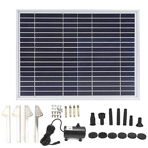 DC 6-24V Mini Solar Fountain Pump, 17V 10W Solar Water Pump Power Panel Kit Onderdompelbaar Brushless voor Garden Water Circulation/Pond Fountain 450-1350L/h SP100 (CE/ROHS/IP68)