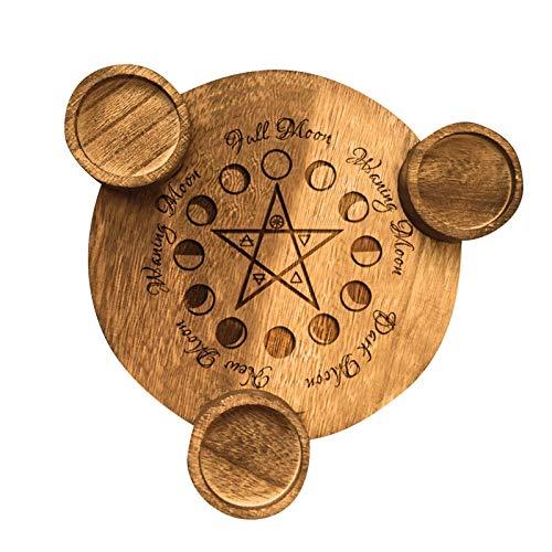 Tarocchi Candela Candeliere Staffa Decor, Durevole Unico Pentagram Tea Light Portacandele