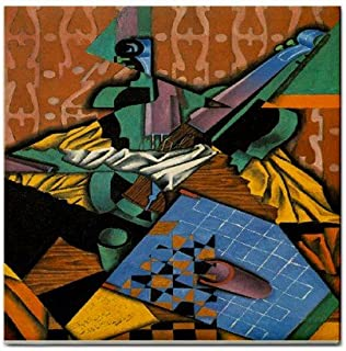 Violin and Checkerboard By Juan Gris Tile Trivet