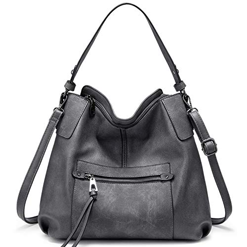 【2020 Fashion Multi-Pockets womens purses】: 1 Front zipper pocket & 1 Backward Safety Zipper Pocket; Interior contains 1 big Center Zipper Divider Compartment and divided to 2 main compartments, also has 1 zipper pocket and 2 slot pockets. Much easie...