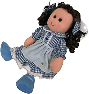 Perfeclan Rag Dolls Molly with Simulation Hair and Country Style Outfits, 5 Styles, 40cm
