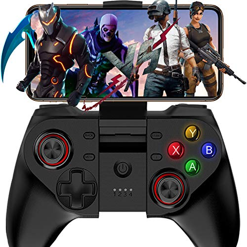 Mobile Game Controller, Megadream Wireless Key Mapping Gamepad Joystick Perfect for PUBG & Fotnite & Call of Duty, Compatible for iOS Android iPhone iPad Samsung Galaxy - Do Not Support iOS 13.4