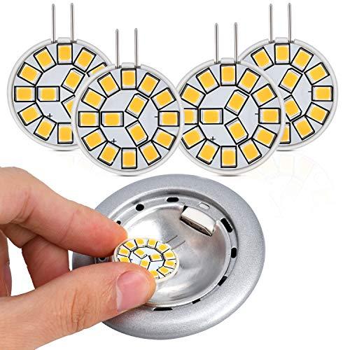 Kohree G4 LED Lampen, 2W LED Glühbirne Birnen ersetzt 20W Halogenlampen, Warmweiß 12V AC/DC LED Leuchtmittel, 350LM Kein Flackern Nicht Dimmbar 360° Lichtwinkel G4 Licht [Energieklasse A++]
