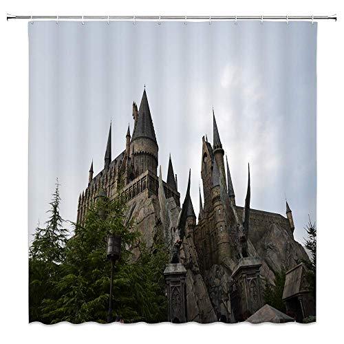 AdaCrazy Fantasía Harry Potter Castle Decorating Home Cortina de Ducha Magic World...