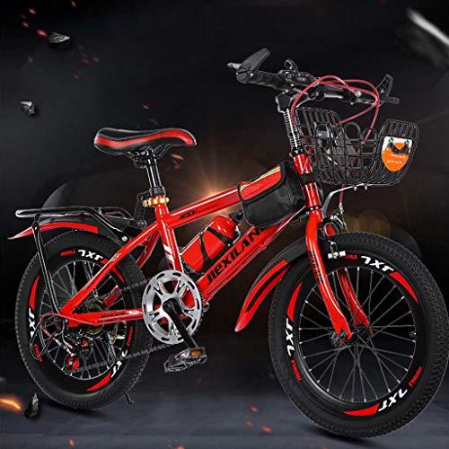 SatinGold Jungenfahrrad 18 Zoll Kinderfahrrad Bike Guide, Kids Mountainbike 21 Gang-Schaltung mit Gabelfederung, Jungen-Mädchen-Fahrrad & Herren-Damen-Fahrrad