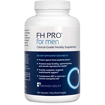 FH PRO for Men, Premium Fertility and Prenatal Multivitamin, Clinically Shown to Support Sperm Count and Motility, Full Spectrum Boost for Diet Gaps - Methylated B Vitamins, D, Zinc, L-arginine, CoQ10