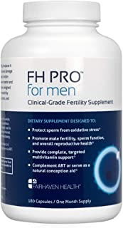 FH PRO for Men, Premium Fertility and Prenatal Multivitamin, Clinically Shown to Support Sperm Count and Motility, Full Sp...