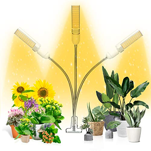 Grow Light, Ankace Full Spectrum Grow Lamp, Tri Head Gooseneck Plant Lights for...